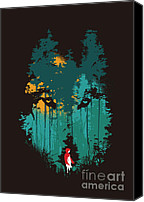Red Canvas Prints - The woods belong to me Canvas Print by Budi Satria Kwan