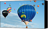 Balloon Fiesta Canvas Prints - The World Aloft Canvas Print by Jim Chamberlain