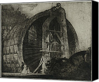 Old Mills Canvas Prints - The Worlds Largest Water Wheel Powered Canvas Print by Everett