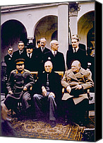 Prime Canvas Prints - The Yalta Conference, Seated Joseph Canvas Print by Everett