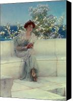 Alma-tadema; Sir Lawrence (1836-1912) Canvas Prints - The Years at the Spring -  Alls Right with the World Canvas Print by Sir Lawrence Alma-Tadema