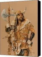 Barbarian Canvas Prints - The Young Son of Bor Canvas Print by Steven Paul Carlson