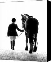 Black And White Photo Canvas Prints - Their Future Looks Bright Canvas Print by Ron  McGinnis