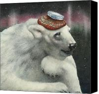 Polar Bear Canvas Prints - Ther Polar Ice Cap... Canvas Print by Will Bullas