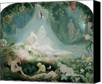 Fantasy Painting Canvas Prints - There Sleeps Titania Canvas Print by John Simmons