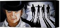 Kubrick Canvas Prints - There was me that is Alex and my Three Droogs Canvas Print by Al  Molina