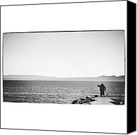 Igerseastbay Canvas Prints - Theres A Fine Line Between Fishing Canvas Print by David Root