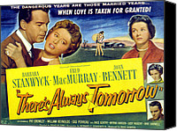 1956 Movies Canvas Prints - Theres Always Tomorrow, Fred Macmurray Canvas Print by Everett