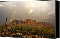 The Superstitions Canvas Prints - Theres Gold at the End of the Rainbow Canvas Print by Saija  Lehtonen