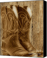 Horsemen Canvas Prints - These Boots were Made For Canvas Print by Cheryl Young