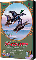 Waterfowl Canvas Prints - They Are Hitters Canvas Print by Lynn Bogue Hunt