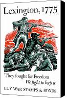 Minutemen Canvas Prints - They Fought For Freedom We Fight To Keep It Canvas Print by War Is Hell Store