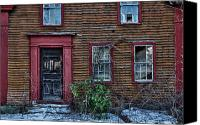 Old Houses Canvas Prints - Theyve Gone Away Canvas Print by Ross Powell