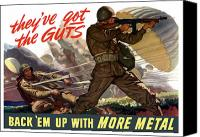 World War Two Canvas Prints - Theyve Got The Guts Canvas Print by War Is Hell Store