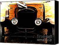 Antique Automobiles Digital Art Canvas Prints - Things that crank Canvas Print by Steven  Digman