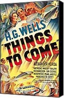 1930s Movies Canvas Prints - Things To Come Aka H.g. Wells Things To Canvas Print by Everett