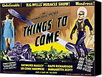 1930s Movies Canvas Prints - Things To Come, From Left On 1947 Canvas Print by Everett