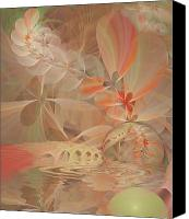 Apophysis Pastels Canvas Prints - Thinking of You Canvas Print by Gayle Odsather