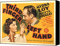 Posth Canvas Prints - Third Finger, Left Hand, Myrna Loy Canvas Print by Everett