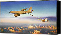 Usaf Canvas Prints - Thirsty Hornet Canvas Print by Dale Jackson