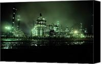 Factories Canvas Prints - This Beautiful Night Shot Shows What Canvas Print by George Grall