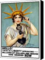 World War I Digital Art Canvas Prints - This Is Liberty Speaking Canvas Print by War Is Hell Store