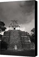 Maya Canvas Prints - This Is Temple 2 At Tikal Canvas Print by Stephen Alvarez