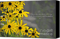 Job Painting Canvas Prints - This is the Day Canvas Print by Diane E Berry