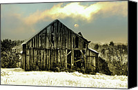 Barn Digital Art Canvas Prints - This Old Barn Canvas Print by Bill Cannon