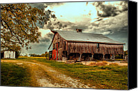Archival Canvas Prints - This Old Barn Canvas Print by Bill Tiepelman