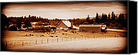 Farming Barns Canvas Prints - This Old Farm IIII Canvas Print by Kathy Sampson