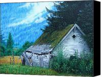 Barn Sculpture Canvas Prints - This Old House Canvas Print by Mike Ivey