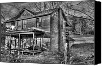 Haunted House Canvas Prints - This old House Canvas Print by Todd Hostetter