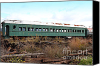 Wine Train Canvas Prints - This Old Train Has Seen Better Days . 7D8994 Canvas Print by Wingsdomain Art and Photography