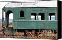 Wine Train Canvas Prints - This Old Train Has Seen Better Days . 7D9007 Canvas Print by Wingsdomain Art and Photography