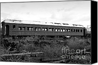 Wine Train Canvas Prints - This Old Train Has Seen Better Days . Black and White . 7D8994 Canvas Print by Wingsdomain Art and Photography