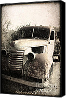 Rusted Cars Digital Art Canvas Prints - This Old Truck Canvas Print by Danuta Bennett