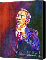 Featured Painting Canvas Prints - This Song Is For You - Andy Williams Canvas Print by David Lloyd Glover
