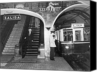 Subway Station Photo Canvas Prints - This Subway Train Is Headed Canvas Print by Luis Marden