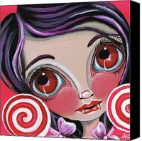 Jasmine Painting Canvas Prints - This Sucks Canvas Print by Jaz Higgins