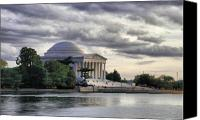 Washington Canvas Prints - Thomas Jefferson Memorial Canvas Print by Gene Sizemore