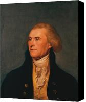 Founding Fathers Painting Canvas Prints - Thomas Jefferson Canvas Print by War Is Hell Store