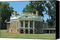 Octagonal Canvas Prints - Thomas Jeffersons Poplar Forest Canvas Print by Teresa Mucha