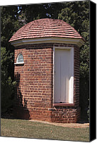 Octagonal Canvas Prints - Thomas Jeffersons Privy Canvas Print by Teresa Mucha