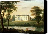 Country Scenes Painting Canvas Prints - Thorp Perrow near Snape in Yorkshire Canvas Print by English School