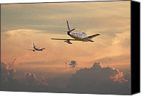 Usaf Canvas Prints - Those were the days...... Canvas Print by Pat Speirs
