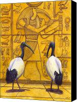 Ibis Canvas Prints - Thoth Canvas Print by Catherine G McElroy