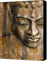 Buddha Art Canvas Prints - Thoughts Canvas Print by Juul