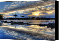 St Lawrence River Canvas Prints - Thousand Islands Bridge Canvas Print by Lori Deiter