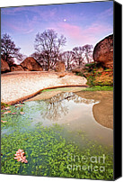 Puddle Canvas Prints - Thracian sanctuary Canvas Print by Evgeni Dinev